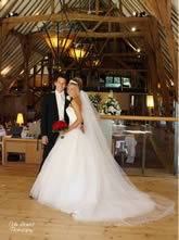 Bride and Groom at Barn Brasserie Kent Weddings Venue for Hire