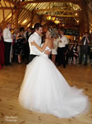 Bride and Groom dance at Barn Brasserie Kent for Weddings