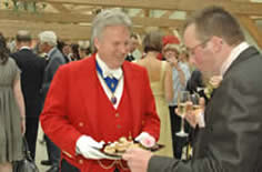 Kent Wedding Toastmaster Richard Palmer with Bride Groom offering a special service