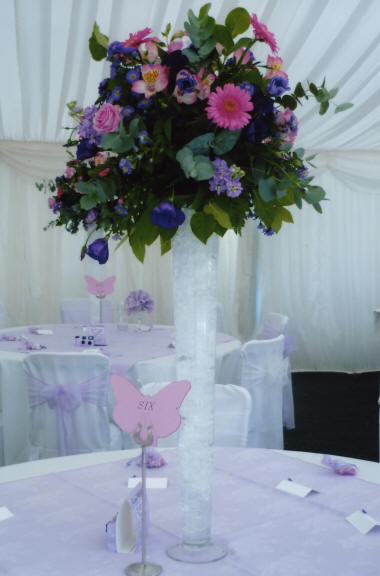 Wedding Floral Decoraton Table Centre created by an Kent Florist
