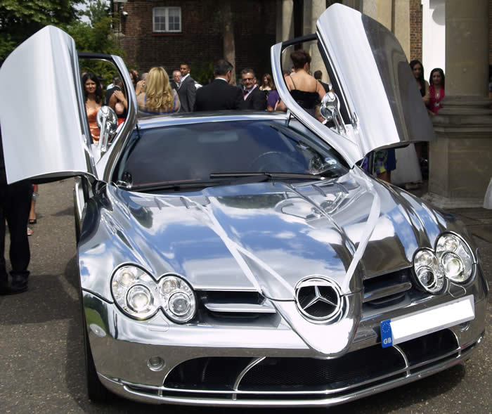 Mercedes SLR Wedding Car Hire and Rental in Kent