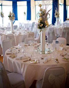 Wedding breakfast at The Royal Corinthian Yacht Club