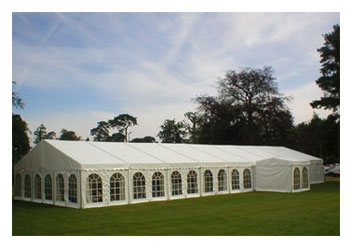 Marquee wedding venue Kent at the Crouch Valley Showground
