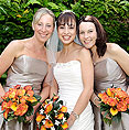Kent Wedding Makeup as worn by smiling Bride and Bridesmaids