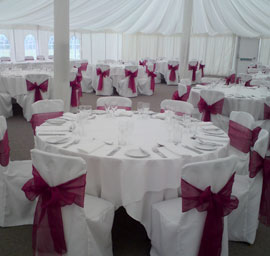 Chair covers for your Kent Wedding