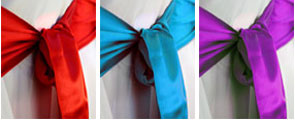 Sashes for chair covers for your Kent wedding
