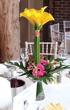 Flower centrepiece for your wedding day at your Kent Wedding Venue